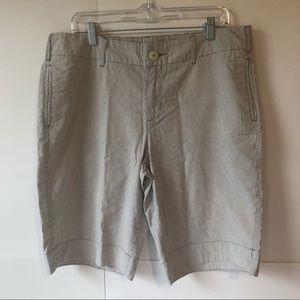Merona Bermuda shorts beige gray women's 14